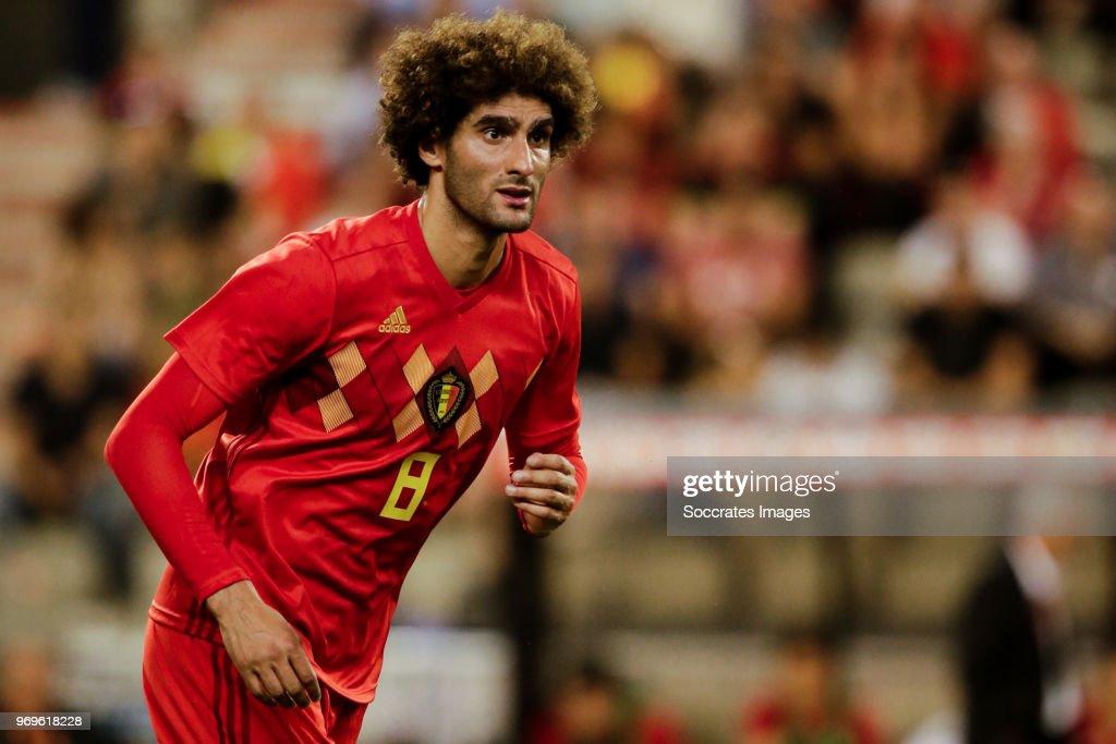 Marouane Fellaini of Belgium during the International Friendly match between Belgium v Egypt at the Koning Boudewijnstadion on June 6, 2018 in Brussel Belgium