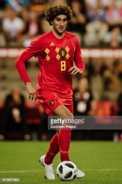 Marouane Fellaini of Belgium during the International Friendly match between Belgium v Egypt at the Koning Boudewijnstadion on June 6 2018 in Brussel...