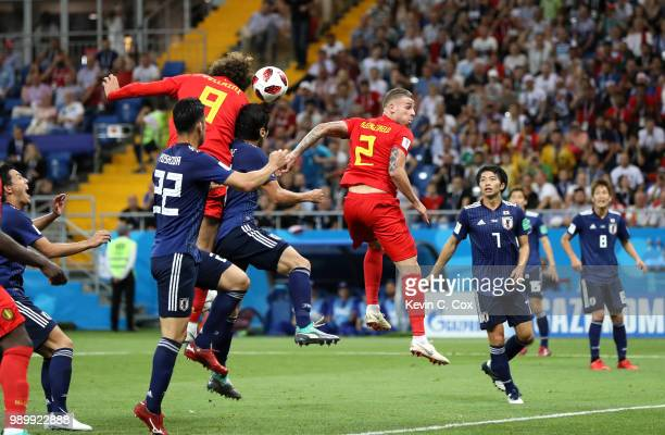 Marouane Fellaini of Belgium scores his team's second goal during the 2018 FIFA World Cup Russia Round of 16 match between Belgium and Japan at...