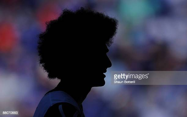 Marouane Fellaini of Everton warms up prior to the FA Cup sponsored by EON Final match between Chelsea and Everton at Wembley Stadium on May 30 2009...