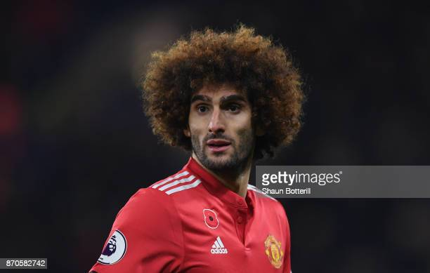 Marouane Fellaini of Manchester United during the Premier League match between Chelsea and Manchester United at Stamford Bridge on November 5 2017 in...