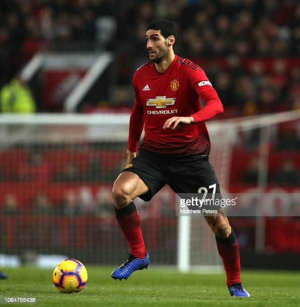 Marouane Fellaini of Manchester United in action during the Premier League match between Manchester United and Crystal Palace at Old Trafford on...