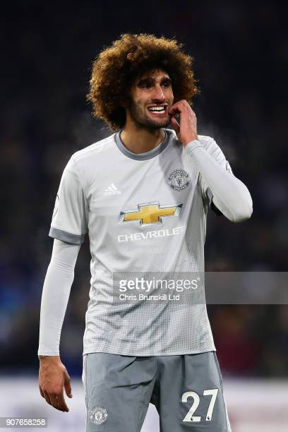 Marouane Fellaini of Manchester United looks on during the Premier League match between Burnley and Manchester United at Turf Moor on January 20 2018...