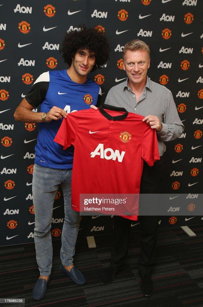 Manchester United Unveil New Signing Marouane Fellaini : News Photo