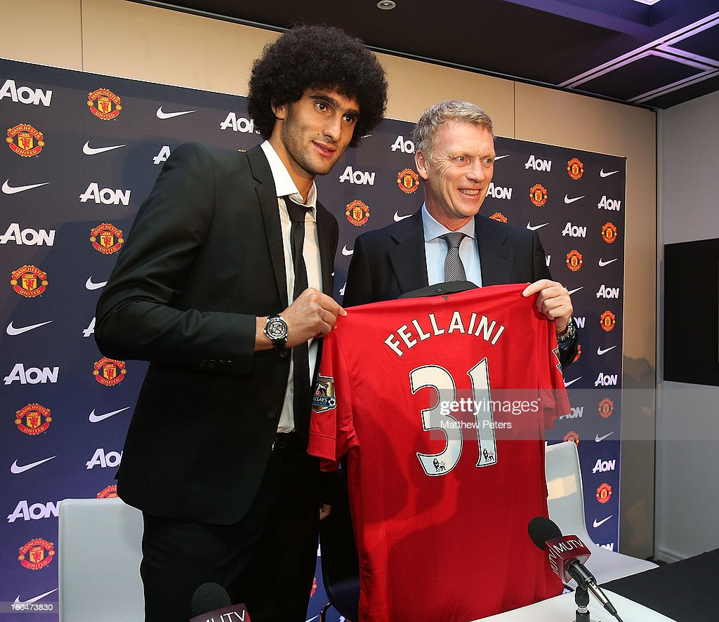 Manchester United Unveil New Signing Marouane Fellaini : News Photo