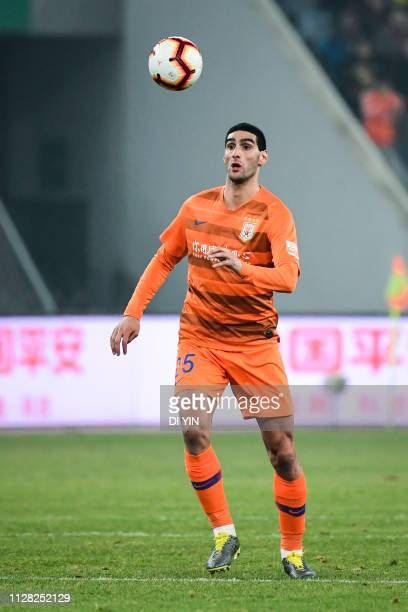 Marouane Fellaini of Shandong Luneng control the ball during the 2019 Chinese Super League match between Shandong Luneng and Beijing Renhe at Luneng...