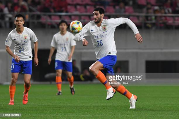 Marouane Fellaini of Shandong Luneng in action during the AFC Champions League Group E match between Kashima Antlers and Shandong Luneng at Kashima...