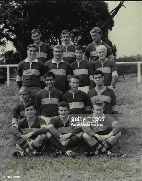 Maroubro Bay High champion open weight side Back row John Patched David Heggie Peter Stone Second row John Cole John Levings Trevor Maloney Owen...