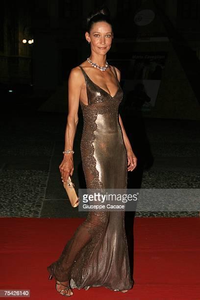 Marpessa arrives at the dinner at Palazzo Reale after the ballet 'Thanks Gianni with Love' to commemorate the tenth anniversary of the death of...