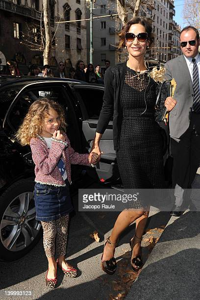 Marpessa Hennink and her daughter attend the Dolce Gabbana Autumn/Winter 2012/2013 fashion show as part of Milan Womenswear Fashion Week on February...