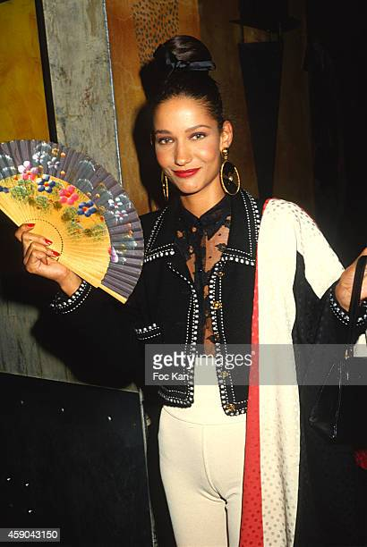 Marpessa Hennink attends a party at Les Bains Douches in 1992 in Paris France