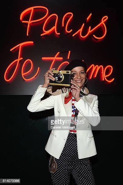 Marpessa Hennink attends 'Paris Je T'aime' party Dolce Gabbana on March 6 2016 in Paris France