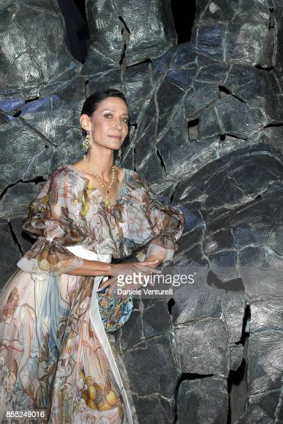 Marpessa Hennink attends the cocktail for the inaugural 'MonteCarlo Gala for the Global Ocean' honoring Leonardo DiCaprio at the Monaco Garnier Opera...
