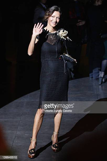 Marpessa Hennink attends the Dolce Gabbana Autumn/Winter 2012/2013 fashion show as part of Milan Womenswear Fashion Week on February 26 2012 in Milan...