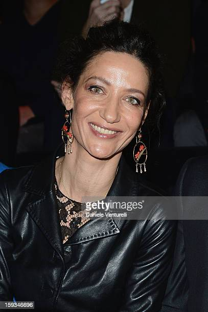 Marpessa Hennink attends the Dolce Gabbana show as part of Milan Fashion Week Menswear Autumn/Winter 2013 on January 12 2013 in Milan Italy