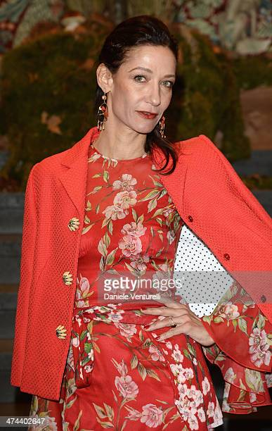 Marpessa Hennink attends the Dolce Gabbana show as part of Milan Fashion Week Womenswear Autumn/Winter 2014 on February 23 2014 in Milan Italy