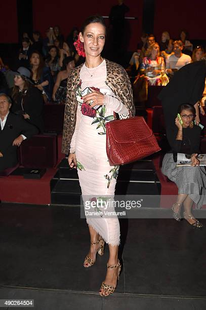 Marpessa Hennink attends the Dolce Gabbana show during the Milan Fashion Week Spring/Summer 2016 on September 27 2015 in Milan Italy