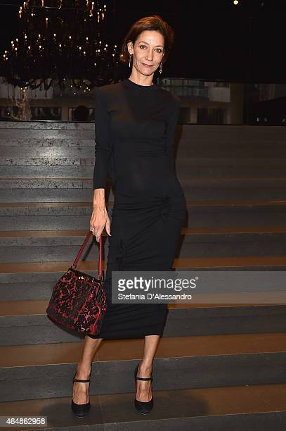 Marpessa Hennink attends the DolceGabbana show during the Milan Fashion Week Autumn/Winter 2015 on March 1 2015 in Milan Italy