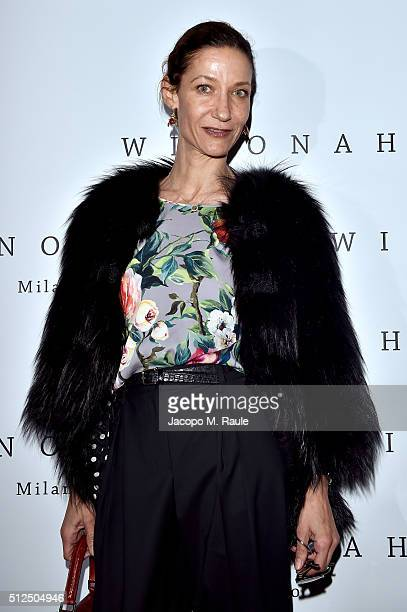Marpessa Hennink attends Winonah VIP Cocktail photocall during Milan Fashion Week Fall/Winter 2016/17 on February 26 2016 in Milan Italy
