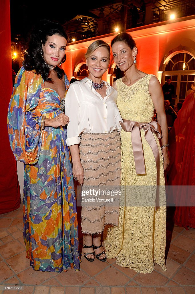 Marpessa Hennink, Ornella Muti and Lamia Khashoggi attend Taormina Filmfest and Prince Albert II Of Monaco Foundation Gala Dinner at on June 16, 2013 in Taormina, Italy.