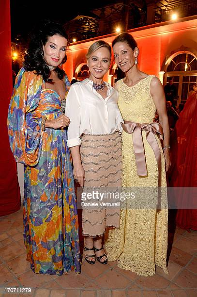 Marpessa Hennink Ornella Muti and Lamia Khashoggi attend Taormina Filmfest and Prince Albert II Of Monaco Foundation Gala Dinner at on June 16 2013...