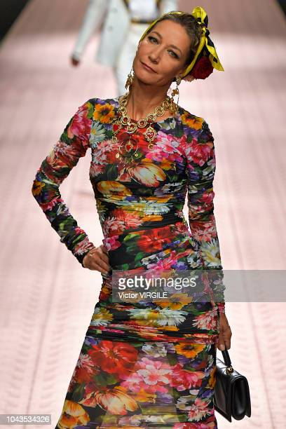 Marpessa Hennink walks the runway at the Dolce Gabbana Ready to Wear fashion show during Milan Fashion Week Spring/Summer 2019 on September 23 2018...
