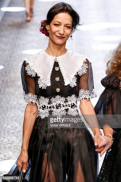 Marpessa Hennink walks the runway at the Dolce Gabbana Ready to Wear fashion show during Milan Fashion Week Fall/Winter 2017/18 on February 26 2017...