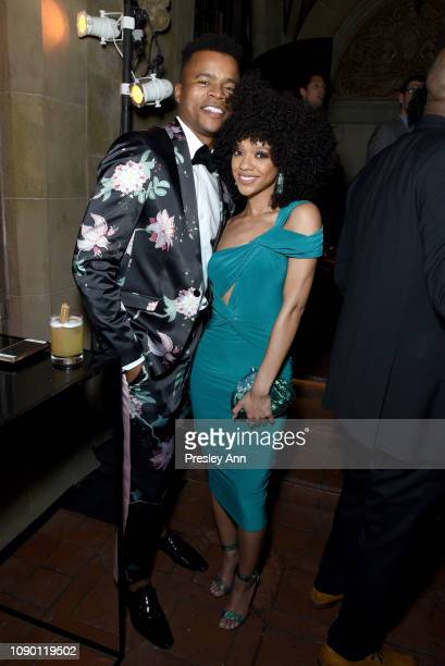 Marque Richardson and Tiffany Boone attend Entertainment Weekly Celebrates Screen Actors Guild Award Nominees sponsored by L'Oreal Paris Cadillac And...