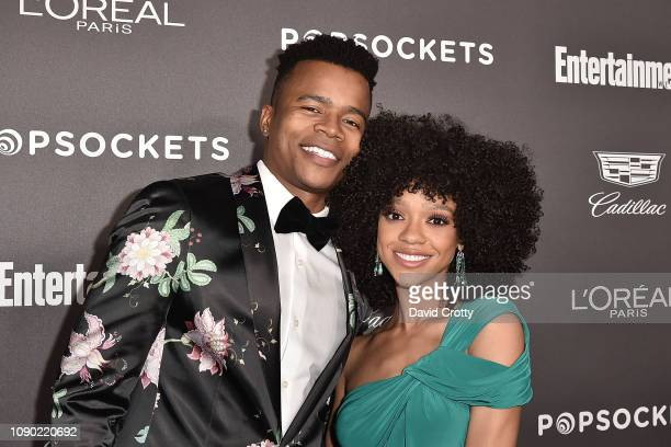 Marque Richardson and Tiffany Boone attend the Entertainment Weekly PreSAG Party Arrivals at Chateau Marmont on January 26 2019 in Los Angeles...