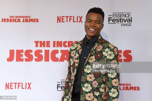 Marque Richardson attends the Premiere Of Netflix Original Film The Incredible Jessica James At The 2017 Essence Festival on July 1 2017 in New...