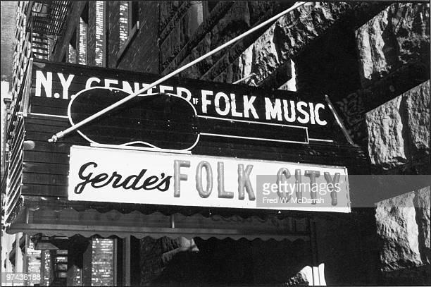 Marquee At Gerde's Folk City