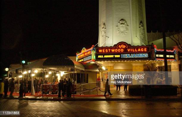 Marquee during All About The Benjamins Westwood Premiere at Mann Village Theatre in Westwood California United States