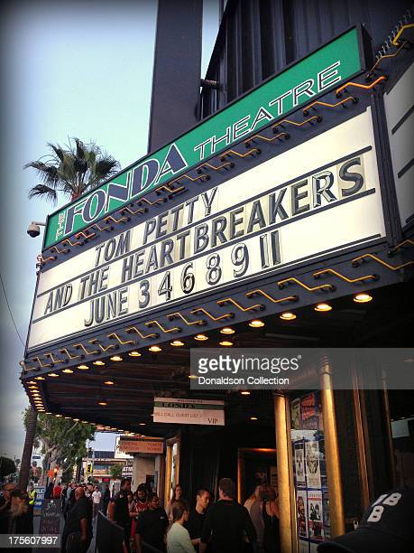 Marquee of the Henry Fonda Theatre reads Tom Petty And The Heartbreakers June 3 5 7 9 11