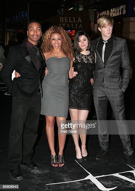 Marquelle Ward Rana Roy Sapphire Elia and Matthew James Thomas attends the UK and Ireland Premiere of 'Twilight' at Vue West End on December 3 2008...