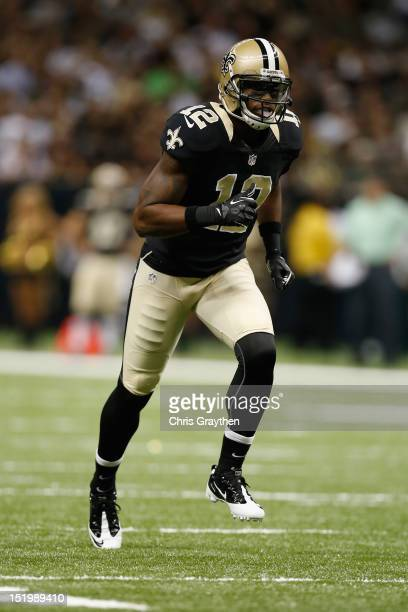 Marques Colston of the New Orleans Saints at the MercedesBenz Superdome on August 25 2012 in New Orleans Louisiana