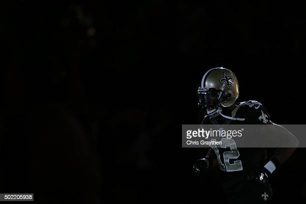 Marques Colston of the New Orleans Saints takes the field prior to a game against the Detroit Lions at the MercedesBenz Superdome on December 21 2015...