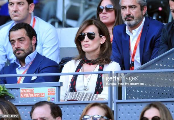 Marques de Murrieta Vicente CebrianSagarriga and Nieves Alvarez and attend Mutua Madrid Open tennis at La Caja Magica on May 14 2017 in Madrid Spain