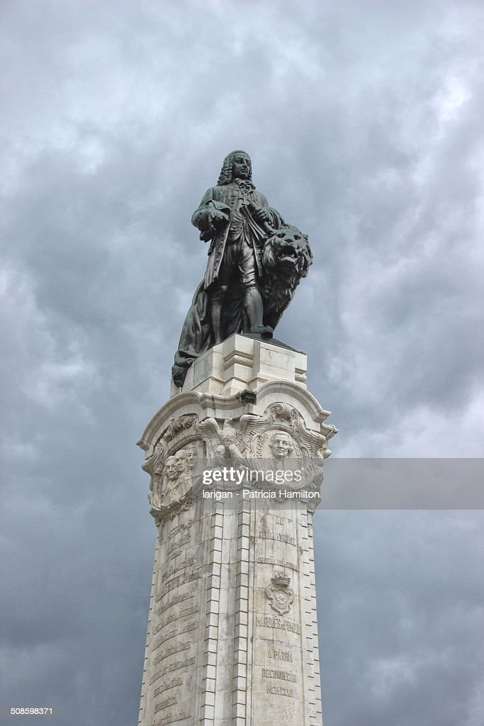 Marques Do Pombal Statue in Lisbon : Foto de stock