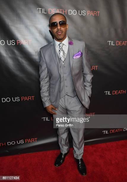 Marques Houston at 'Til Death Do Us Part Atlanta Red Carpet Screening and QA at Regal Atlantic Station on September 21 2017 in Atlanta Georgia