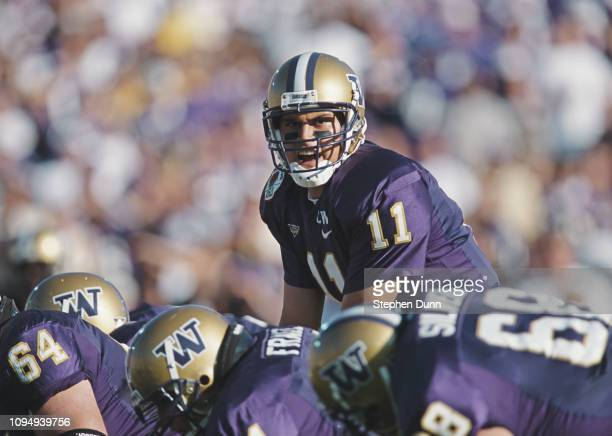 Marques Tuiasosopo, Quarterback for the University of Washington Huskies calls the play at the snap against the Purdue University Boilermakers during...