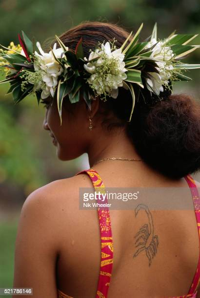 Marquesan Woman with a Tattoo