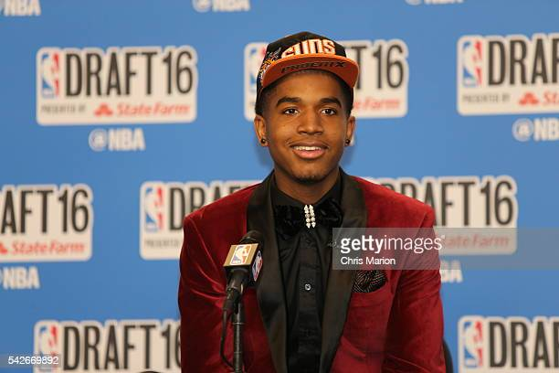 Marquese Chriss after being selected number eight overall by the Sacramento Kings and later traded to the Phoenix Suns during the 2016 NBA Draft on...