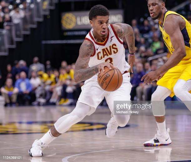 Marquese Chriss of the Cleveland Cavaliers drives to the basket during the game against the Indiana Pacers at Bankers Life Fieldhouse on February 9...