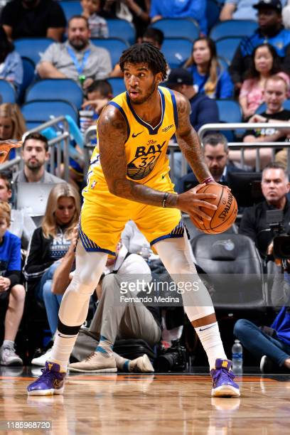 Marquese Chriss of the Golden State Warriors handles the ball against the Orlando Magic on December 1 2019 at Amway Center in Orlando Florida NOTE TO...
