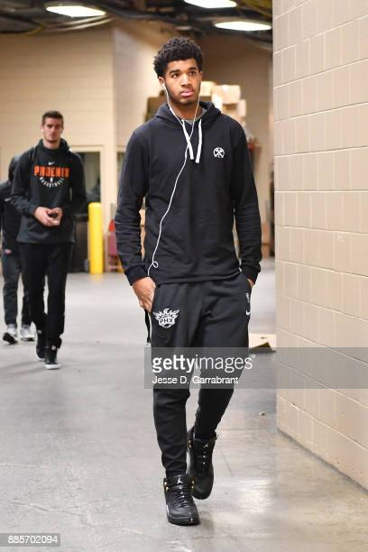 Marquese Chriss of the Phoenix Suns arrives before the game against the Philadelphia 76ers on December 4 2017 at Wells Fargo Center in Philadelphia...
