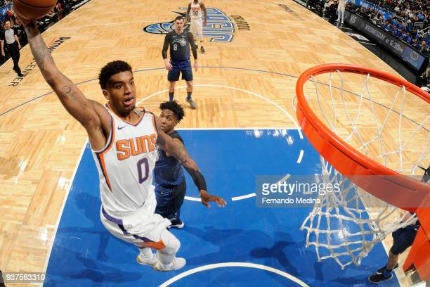Marquese Chriss of the Phoenix Suns dunks the ball against the Orlando Magic on March 24 2018 at Amway Center in Orlando Florida NOTE TO USER User...