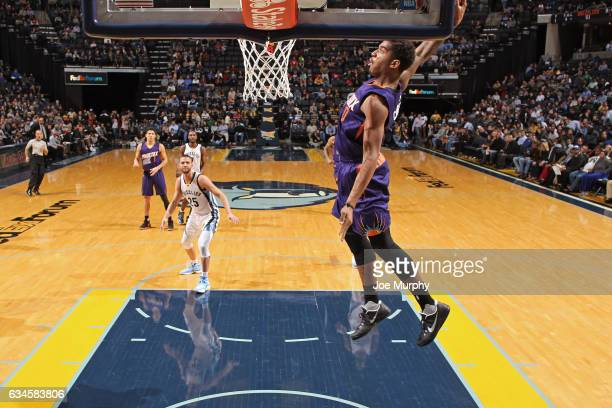 Marquese Chriss of the Phoenix Suns dunks the ball against the Memphis Grizzlies on February 8 2017 at FedExForum in Memphis Tennessee NOTE TO USER...