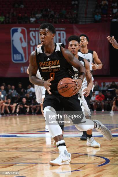 Marquese Chriss of the Phoenix Suns handles the ball against the Sacramento Kings on July 7 2017 at the Thomas Mack Center in Las Vegas Nevada NOTE...