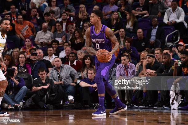 Marquese Chriss of the Phoenix Suns handles the ball against the Denver Nuggets on February 10 2018 at Talking Stick Resort Arena in Phoenix Arizona...