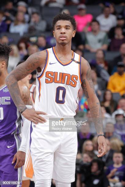 Marquese Chriss of the Phoenix Suns looks on during the game against the Sacramento Kings on December 29 2017 at Golden 1 Center in Sacramento...